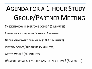 Image of Study Group Agenda