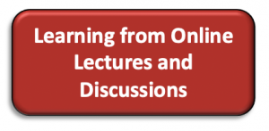 Learning from Online Lectures and Discussions
